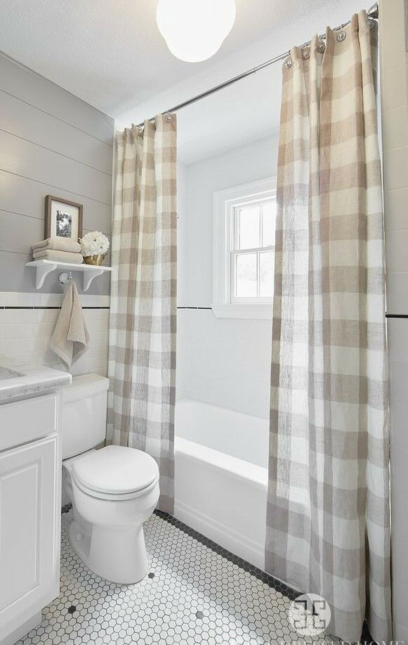 Nwot Double Shower Curtain Panels Taupe Buffalo Check