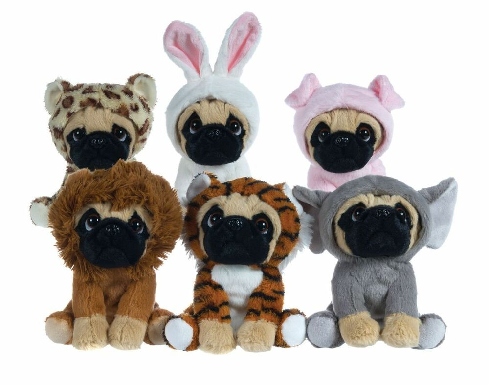 Plush Toys Pug 6 1 2 Quot Pug Dog In 6 Costumes Onesy Cuddly