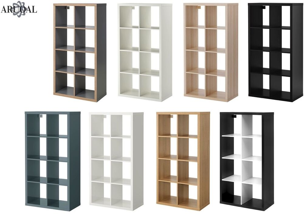 ikea kallax 8 shelving unit display storage bookcase various colours expedit ebay. Black Bedroom Furniture Sets. Home Design Ideas