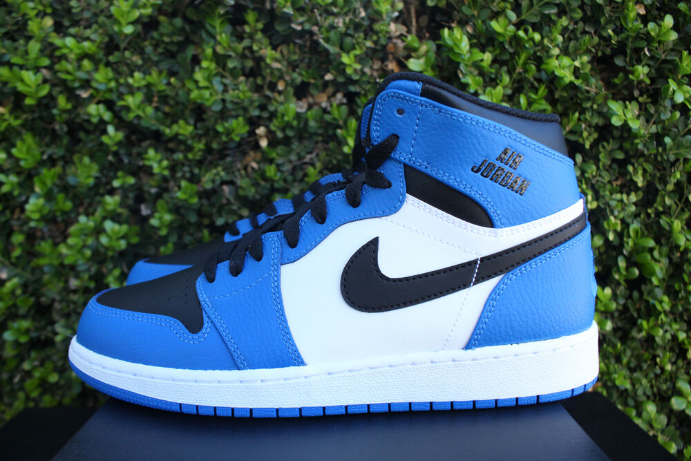 NIKE AIR JORDAN 1 RETRO HIGH GS SZ 7 Y SOAR BLUE BLACK ...