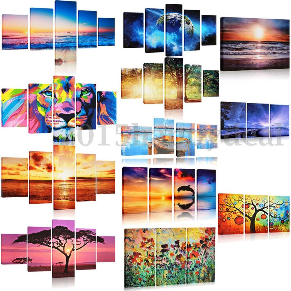 art modern abstract painting canvas picture print wall