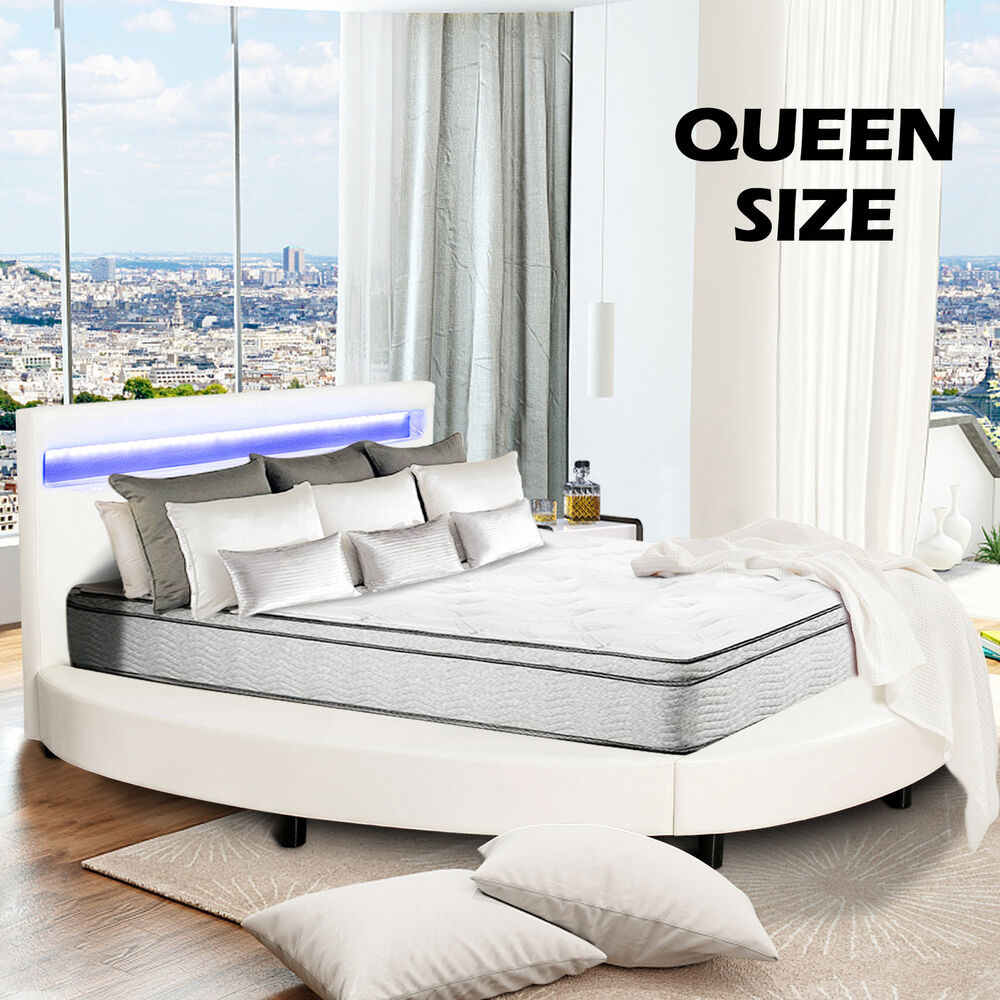 Full Size Metal Bed Frame Platform Headboards With 6 Legs