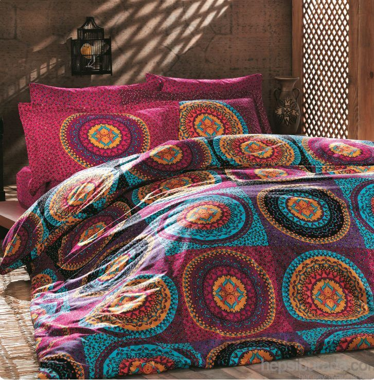 Bedding Set Linen Double Quilt Duvet Cover Mandala Hippie