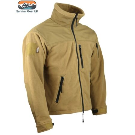 img-COYOTE / SAND TACTICAL DEFENDER ZIP FLEECE JACKET MILITARY SECURITY AIRSOFT WARM