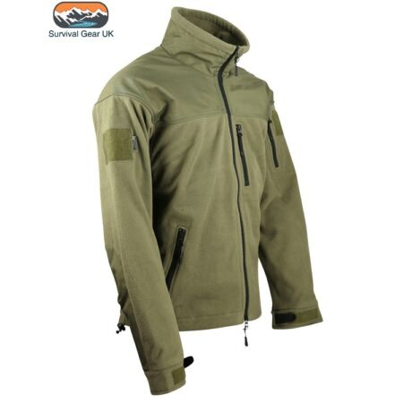 img-GREEN TACTICAL DEFENDER ZIP FLEECE JACKET MILITARY SECURITY AIRSOFT WARM