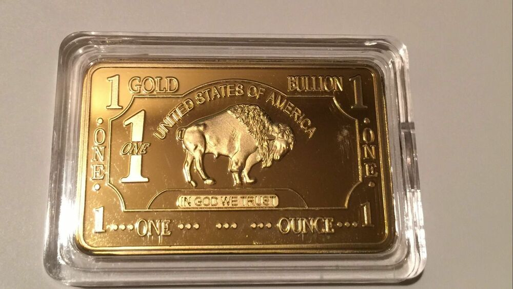 1 Troy Oz 100 Mills 999 Gold Buffalo Clad Art Collectors
