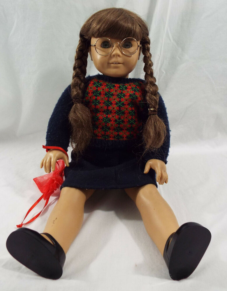 pleasant company american girl 18 doll molly mcintire with glasses ebay. Black Bedroom Furniture Sets. Home Design Ideas