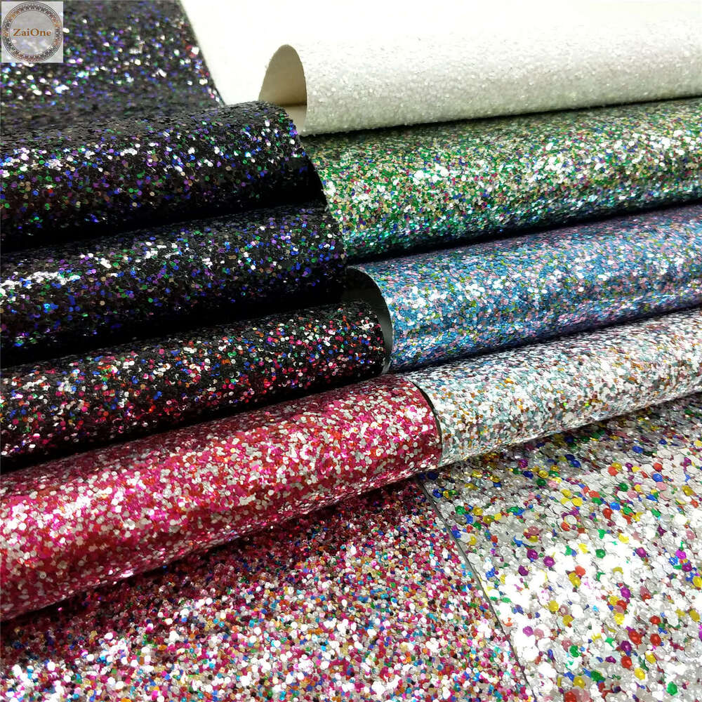 Mix Colour Chunky Glitter Sparkly Twinkle Fabric Vinyl