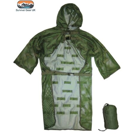 img-LIGHTWEIGHT MESH CONCEALMENT VEST GHILLIE SUIT SNIPER CAMOUFLAGE HUNTING ARMY