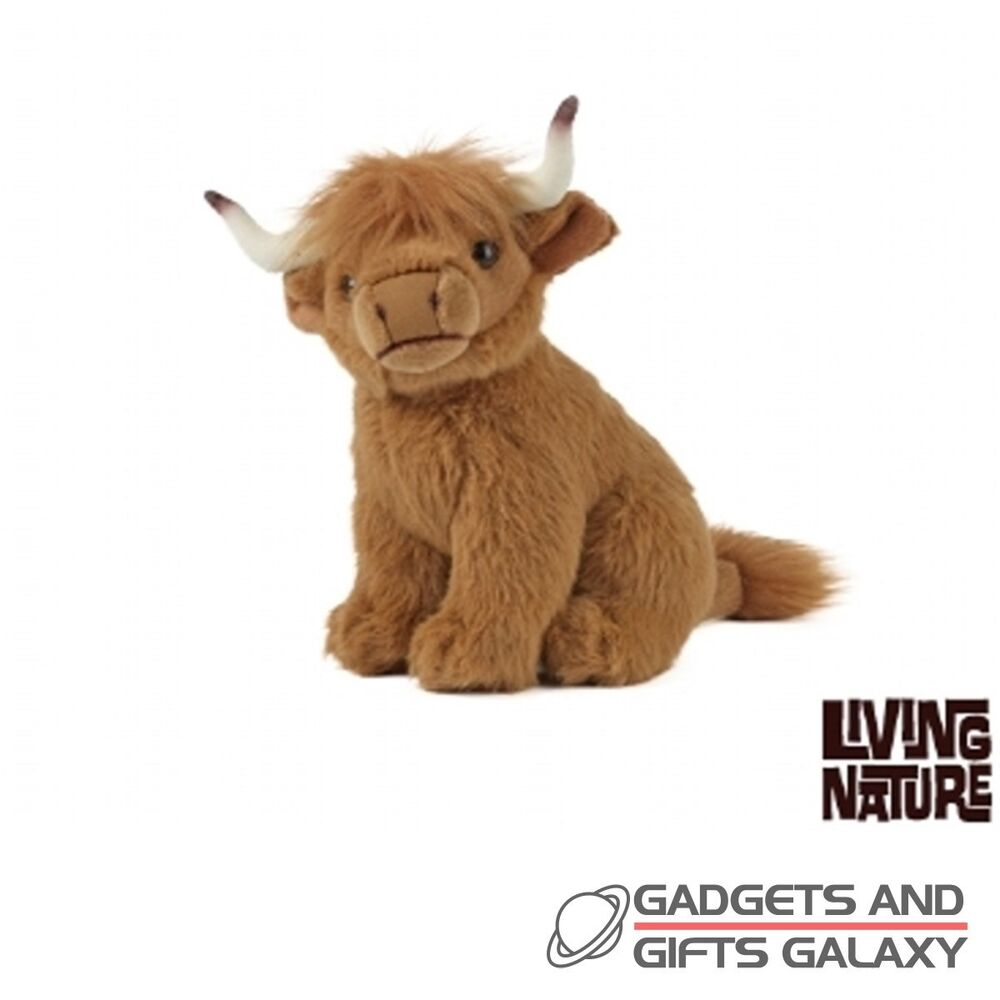 Small Toy Cows : Small cute cuddly plush highland cow cm tall facts