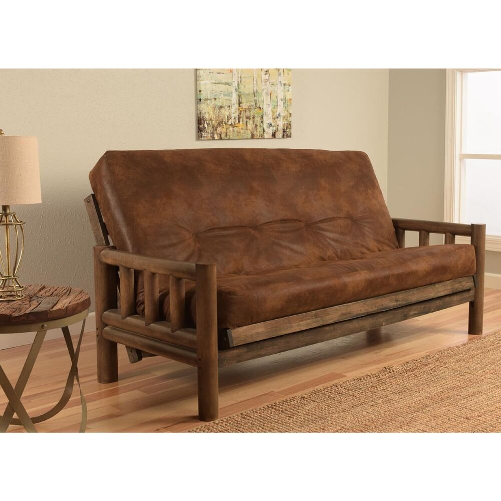 Lodge Full Size Futon Set Rustic Walnut Futon Mattress Log