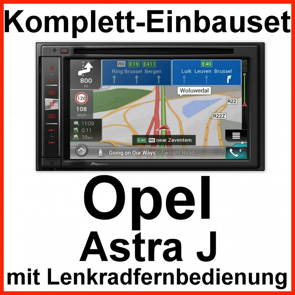 komplett set opel astra j pioneer avic f980bt navi. Black Bedroom Furniture Sets. Home Design Ideas