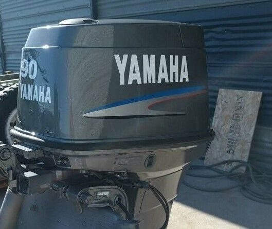 Yamaha 90hp two stroke outboard decal sticker kit marine for Yamaha 25hp 2 stroke outboard