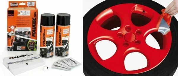 KIT PEINTURE JANTE PLASTIFIANT ELASTIQUE FOLIATEC ROUGE BRILLANT Dodge