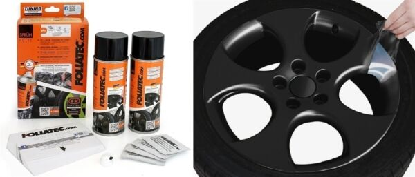KIT PEINTURE JANTE PLASTIFIANT ELASTIQUE FOLIATEC BLACK MATT Citroën