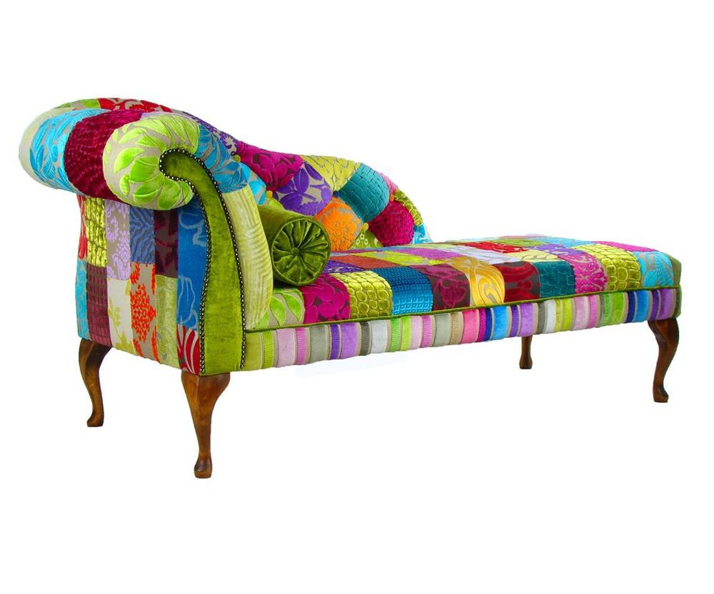 Bespoke patchwork chaise longue chair sofa designers guild - Chaise anders patchwork ...