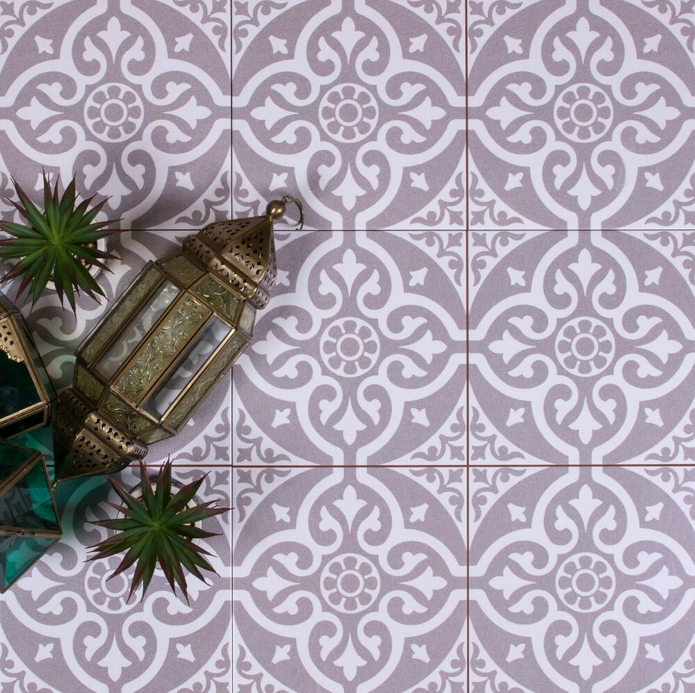 TILE DEALS & SAMPLES Tweeford Grey Moroccan Victorian ...