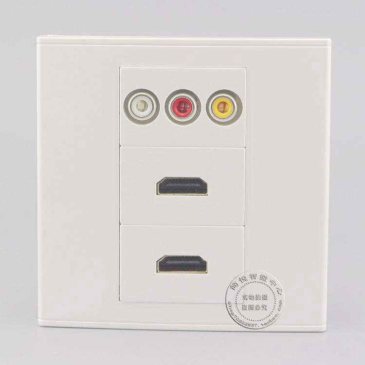 wall face plate 3rca av   dual hdmi port assorted panel
