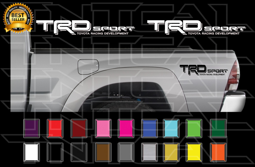 Trd Sport Decals Toyota Tacoma Racing Truck Bed Vinyl