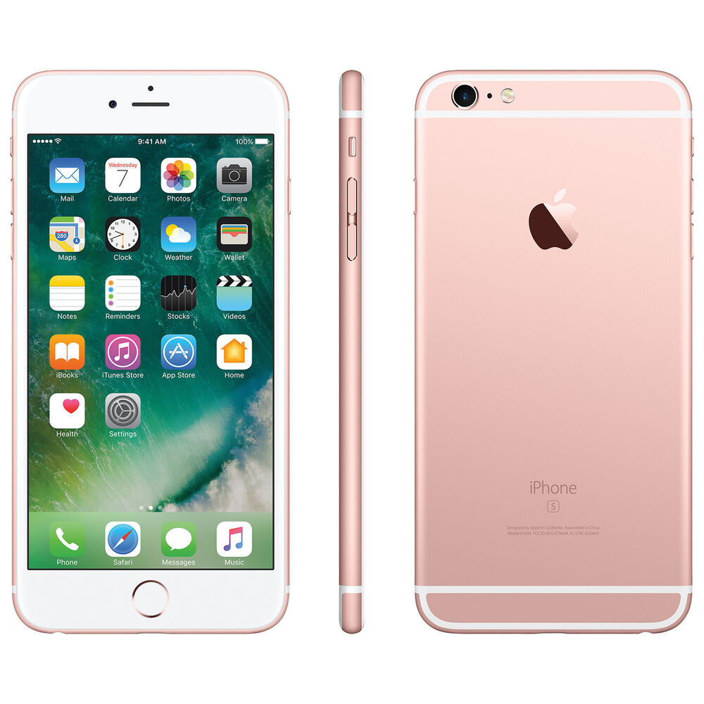 apple iphone 6s plus 128gb unlocked smartphone pink gray silver gold wt ebay. Black Bedroom Furniture Sets. Home Design Ideas