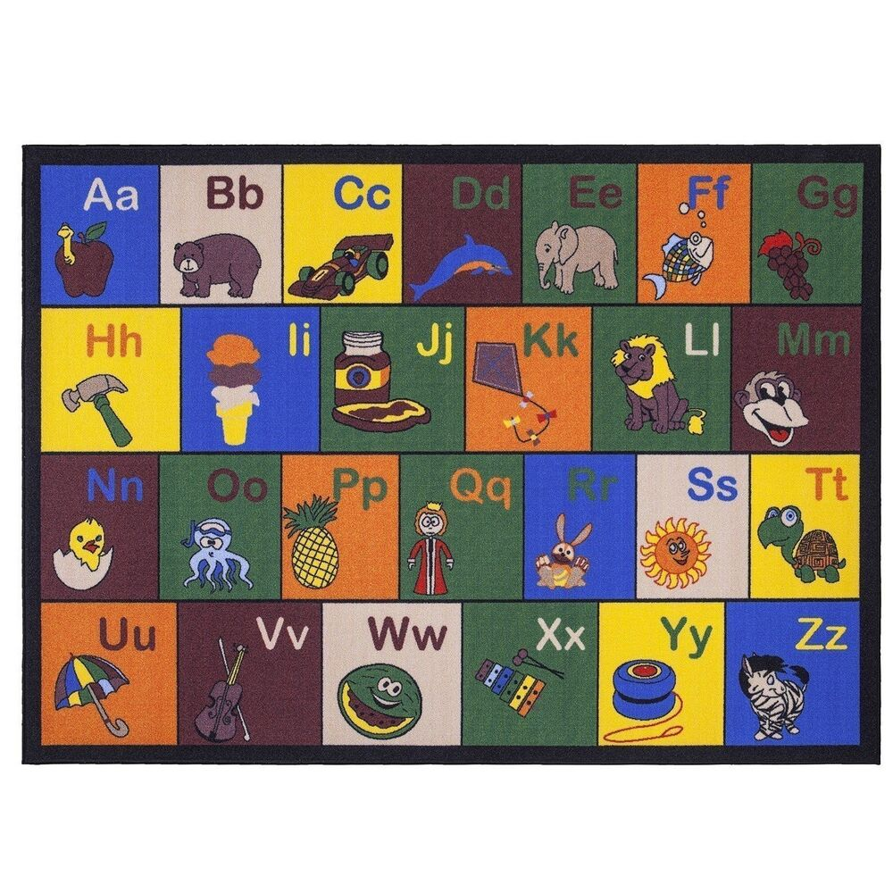 Kindergarten Classroom Rugs For Kids Educational Alphabet
