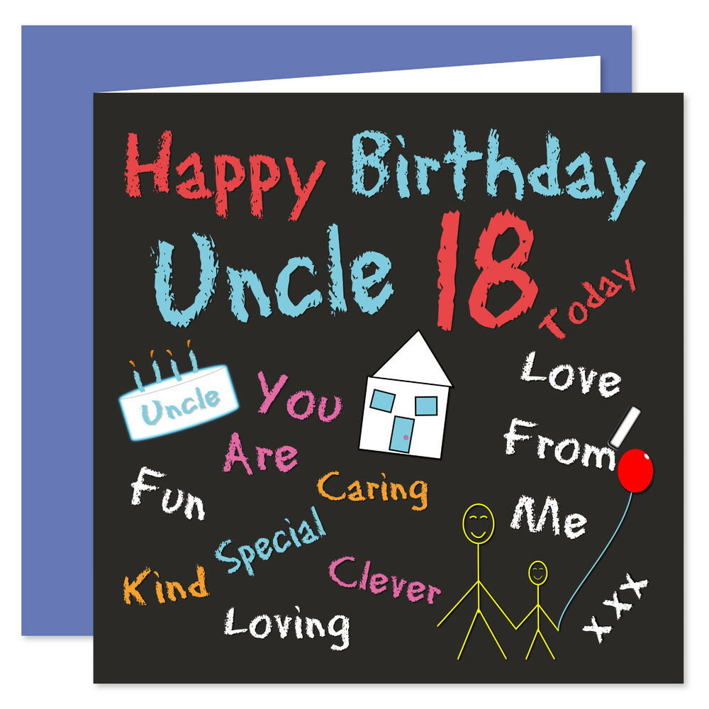 Details About Uncle Happy Birthday Card