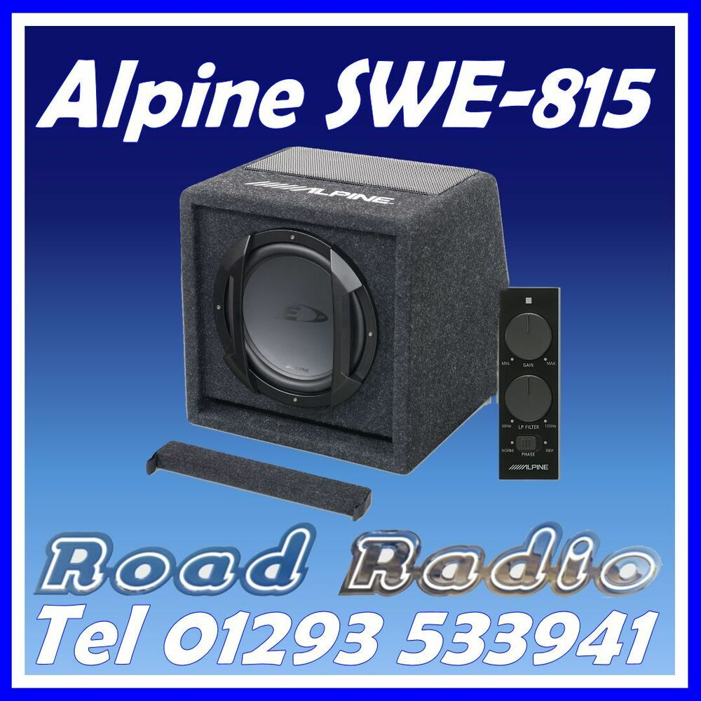 alpine swe 815 8 20cm 150w amplified subwoofer bass box. Black Bedroom Furniture Sets. Home Design Ideas