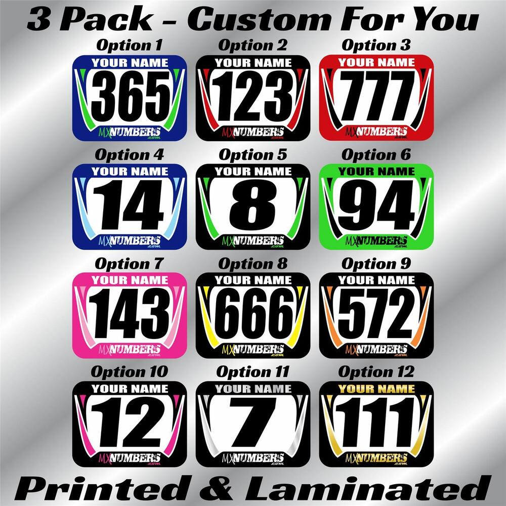 Number Decals EBay - Custom decals and stickers