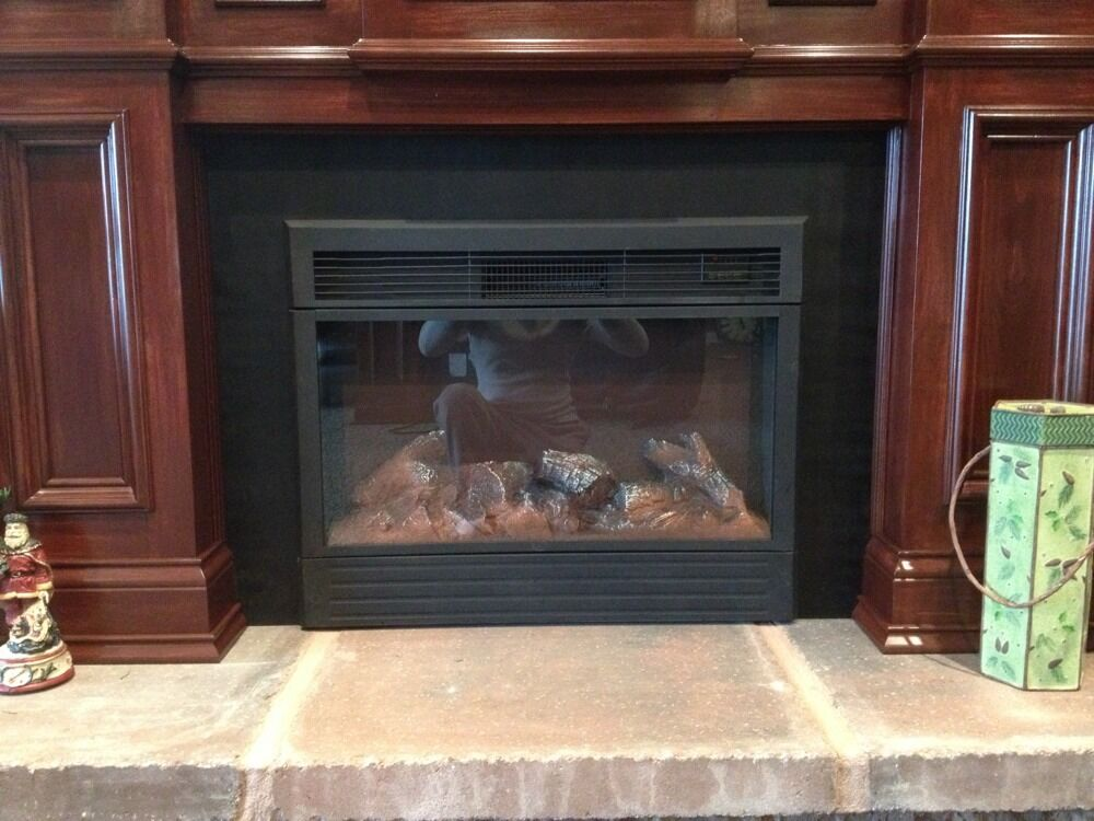 Metal Fireplace Insert Surround Filler Panel Mantel Fender