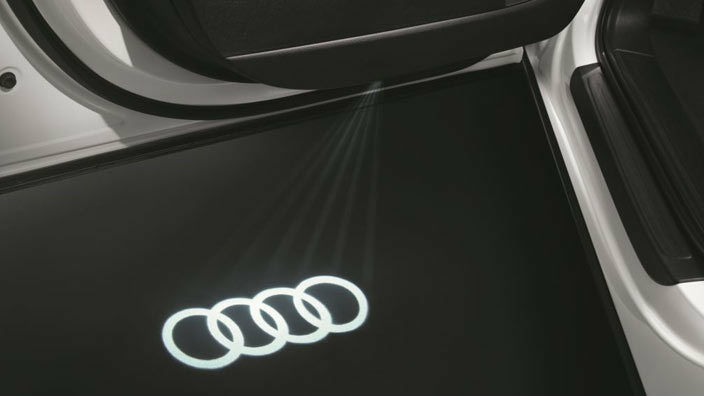 4g0052133g Genuine Audi Led Puddle Lights Rings Logo 2