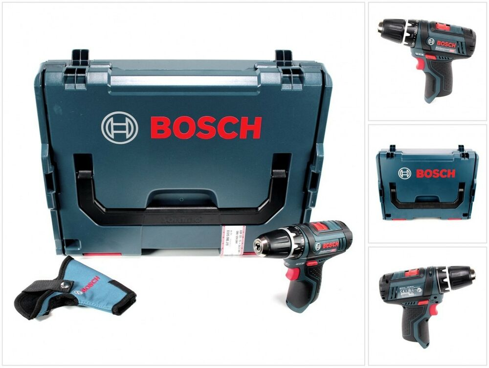 bosch gsr 12v 15 professional akku bohrschrauber solo in l boxx 060186810d ebay. Black Bedroom Furniture Sets. Home Design Ideas