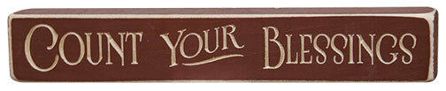 Rustic Primitive Country Engraved Wood Sign Quot Count Your