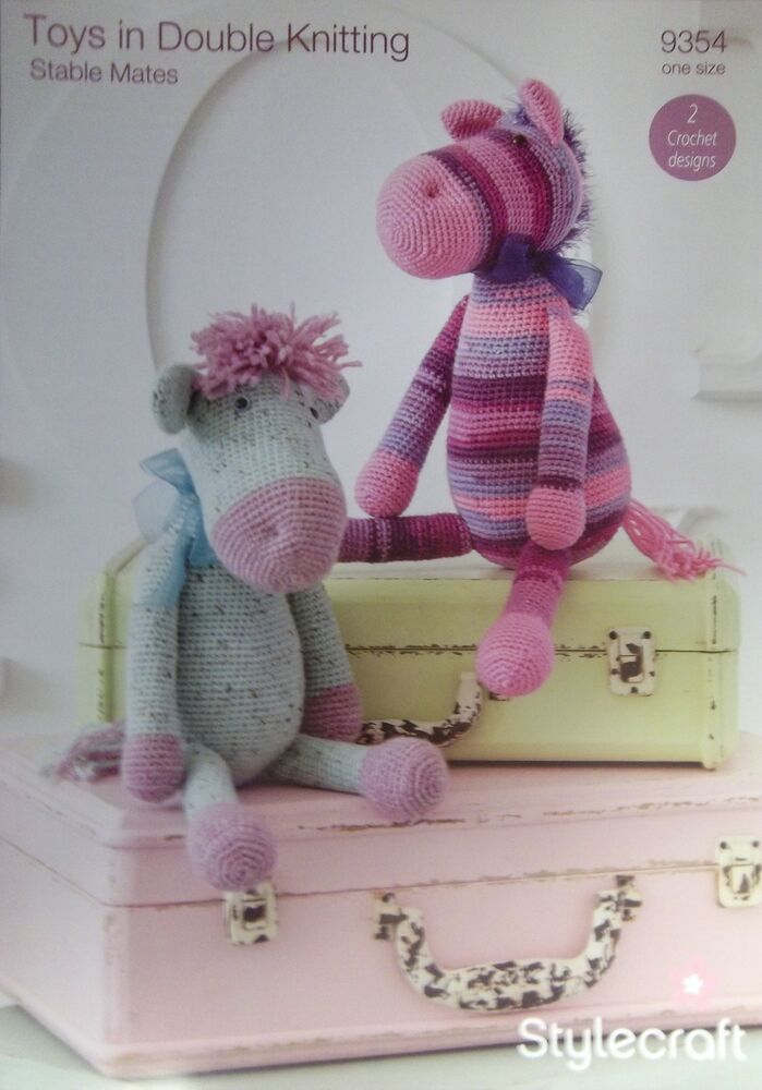 Knitting Patterns For Toy Hats : Stylecraft DK Toy Knitting pattern stable mates horse hat ...