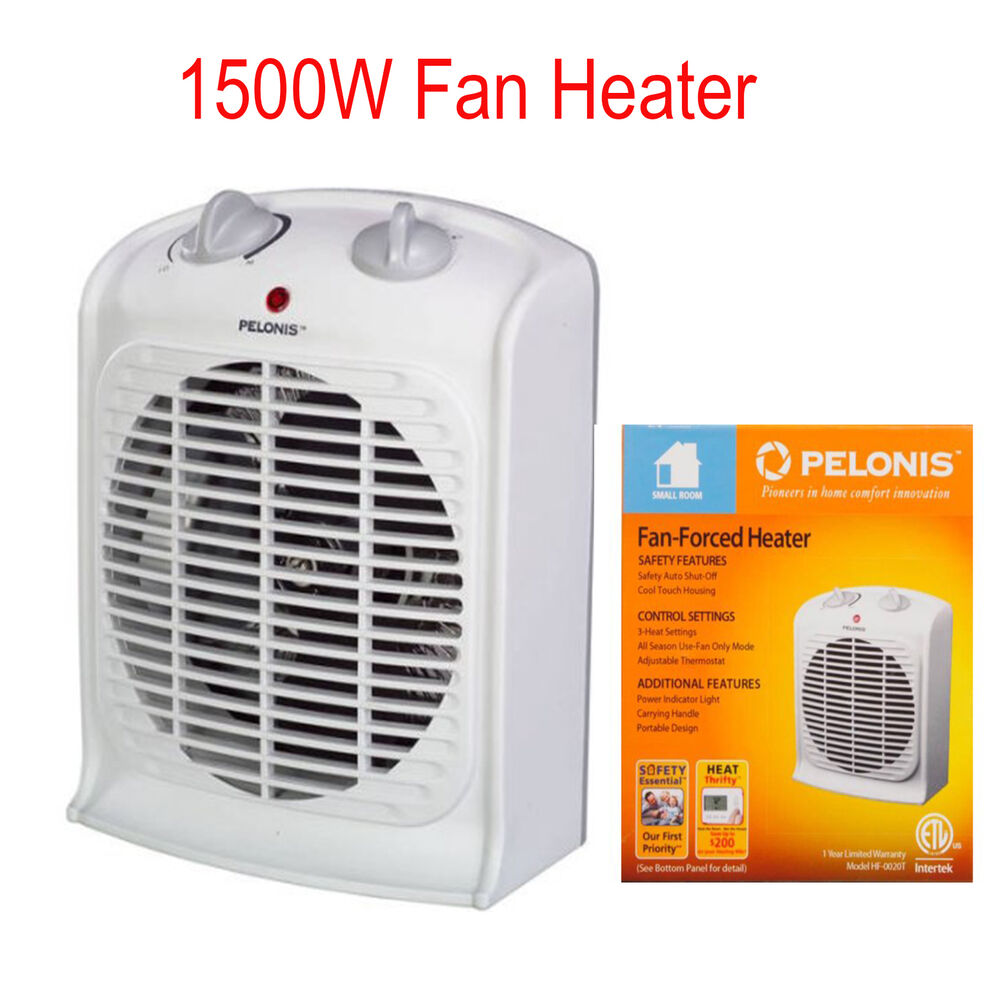 Portable Fan Heaters For Home : Portable space heater electric adjustable thermostat home