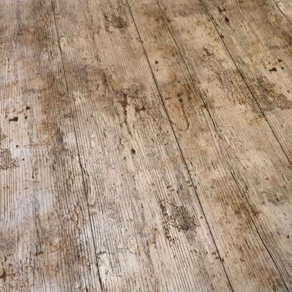 Vintage Brown Oak Wooden Plank Rustic Wood Effect Pvc
