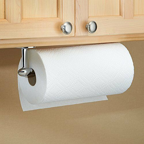 Under Shelf Kitchen Roll Holder: NEW Wall Mount Paper Towel Roll Rack Holder Accessible