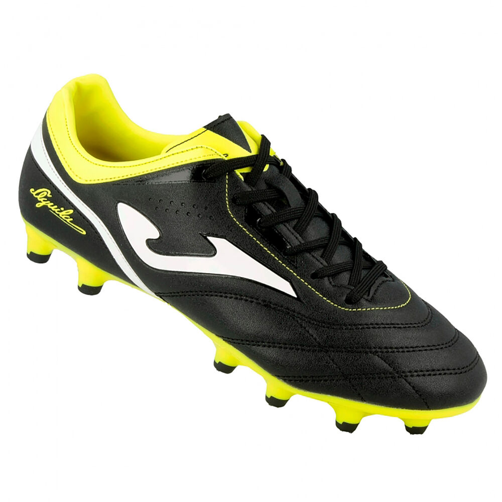 3cc7e186f Details about Joma Aguila 711 Black-Yellow Firm Ground Soccer Shoes