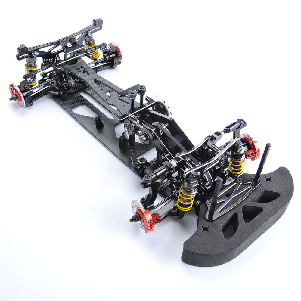 1 10 alloy carbon fiber g4 4wd drift rc racing model car frame chassis kit ebay. Black Bedroom Furniture Sets. Home Design Ideas