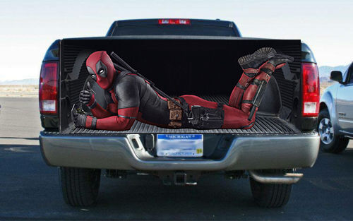 Deadpool Character Truck Tailgate Wrap Vinyl Graphic Decal
