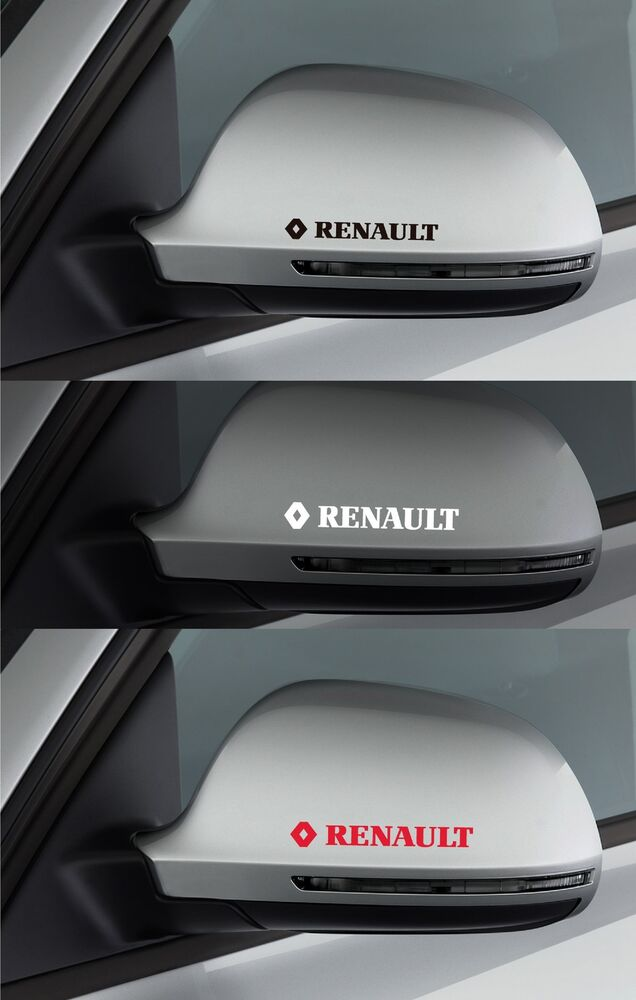 For renault 2 x wing mirror vinyl car decal sticker for Sticker miroir adhesif