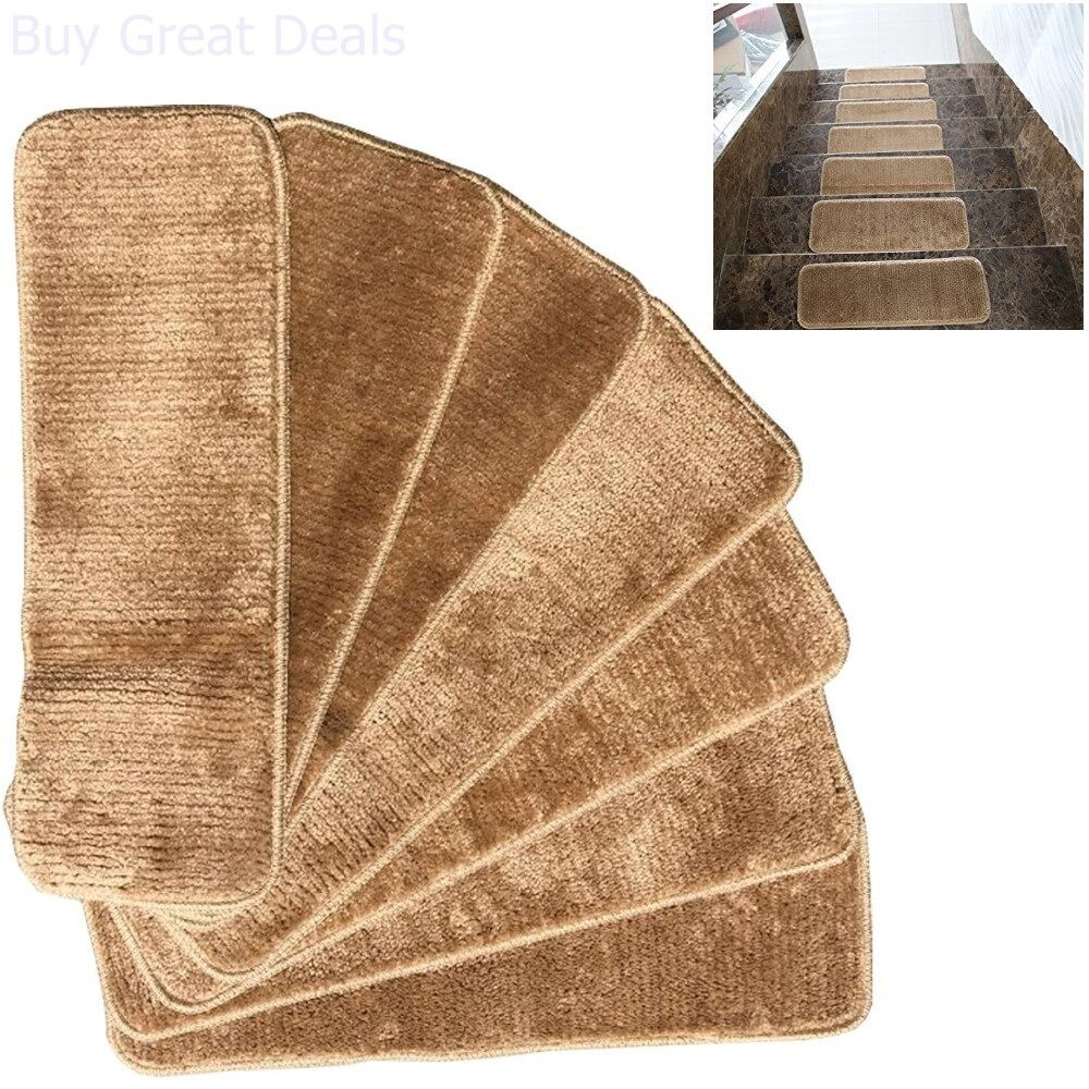 Rooster Tapestry Non Skid Rug: Non-skid Carpet Stair Treads Rubber Backing Mats Rug Set 7