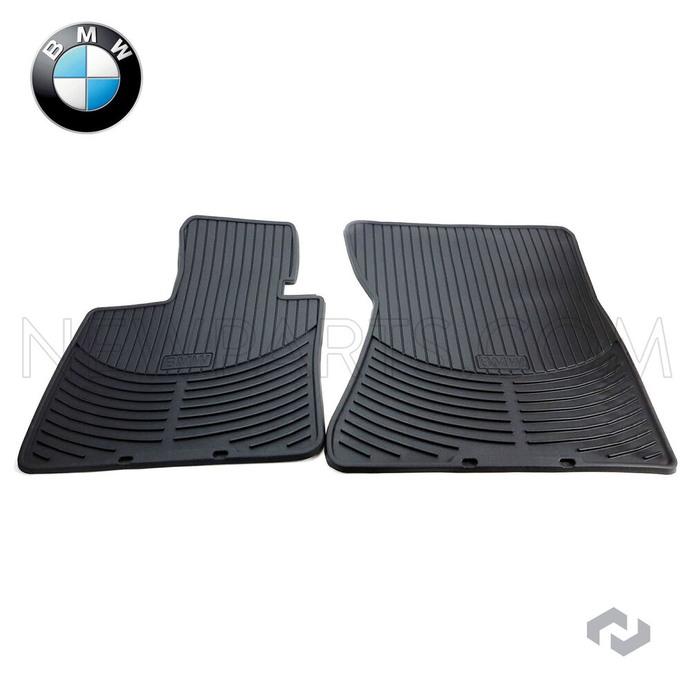Bmw X5 E70 Rubber Floor Mats: NEW BMW X5 X6 07-14 Front All Weather Rubber Black Floor