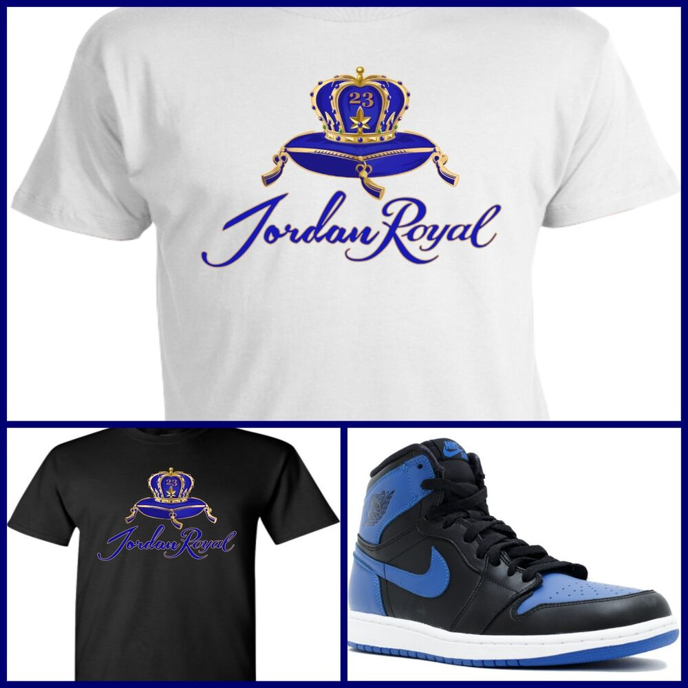 Exclusive tee t shirt 4 to match air jordan 1 or 31 royal for Jordan royal 1 shirt