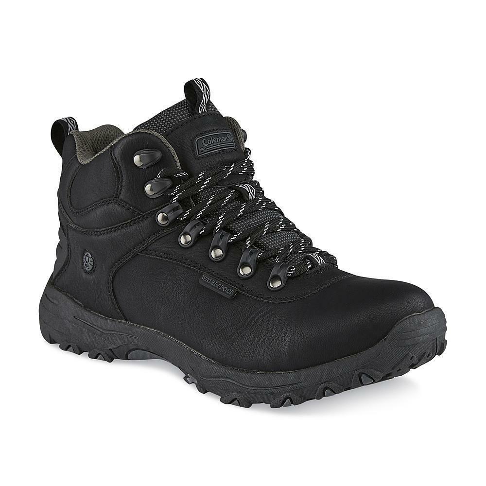 Coleman Mens Kent 3 Black Waterproof Hiking Boot Black