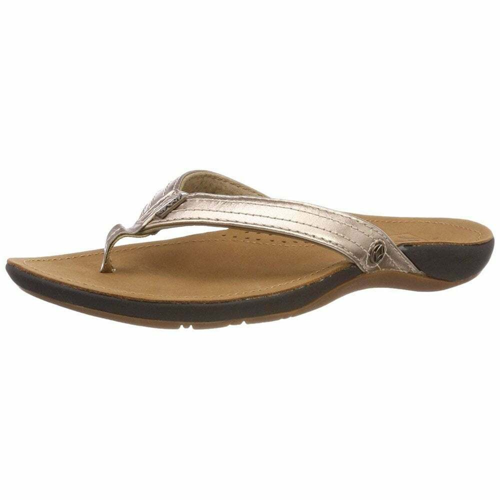 ae777e8a48f9a1 Details about Ladies Girls Reef MISS J-BAY Flip Flops Leather Upper Brown    Brown