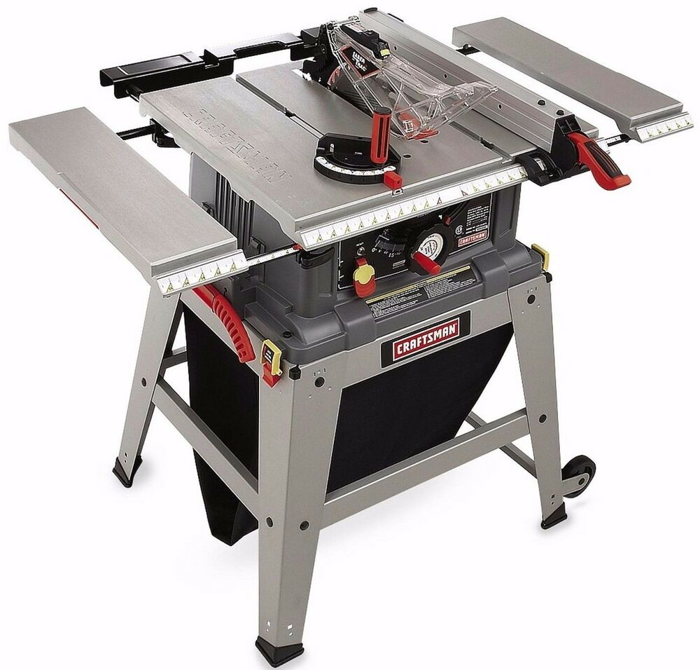 New Craftsman Table Miter Saw W 10 Inch Wood Cutting