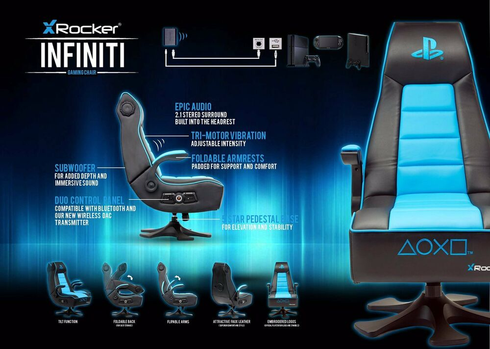 X Rocker Infiniti Gaming Chair Playstation Design Neu