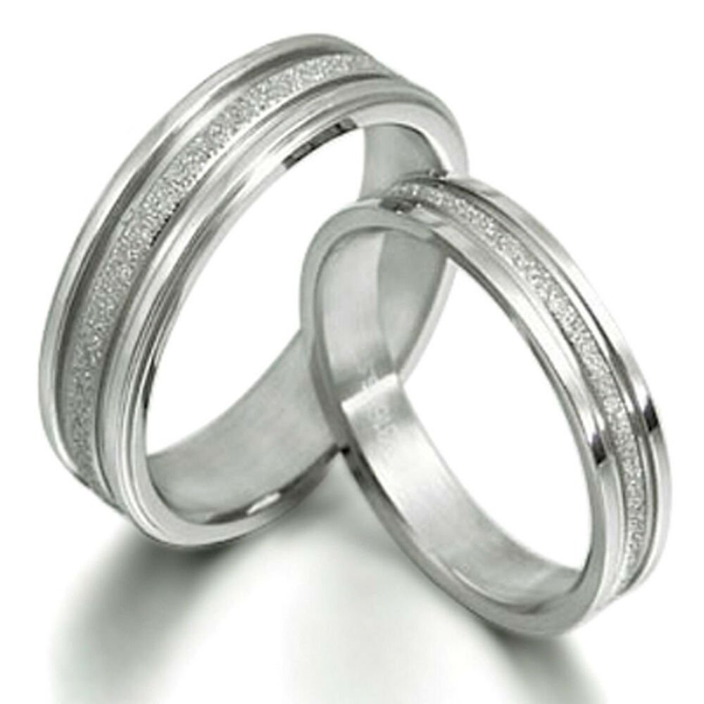 Eternity Ring Wedding Set: Titanium Ring Set Eternity Pair His Her Wedding Engagement