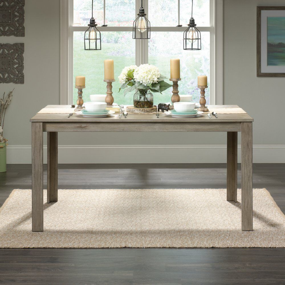 farmhouse dining table industrial style furniture solid wood rustic weathered ebay. Black Bedroom Furniture Sets. Home Design Ideas