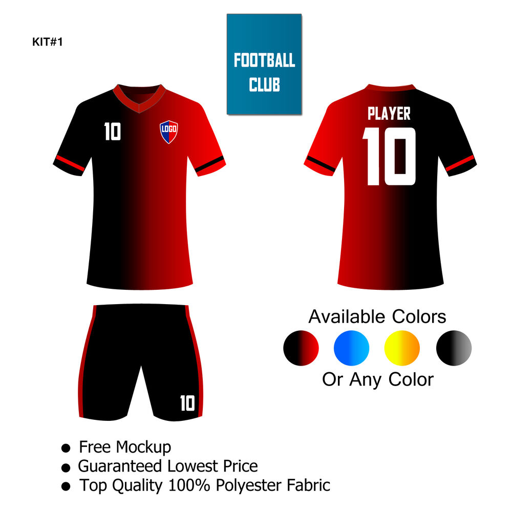 Customized Soccer Uniform 15 Or 30 Kits Any Solid Colorsize Ebay